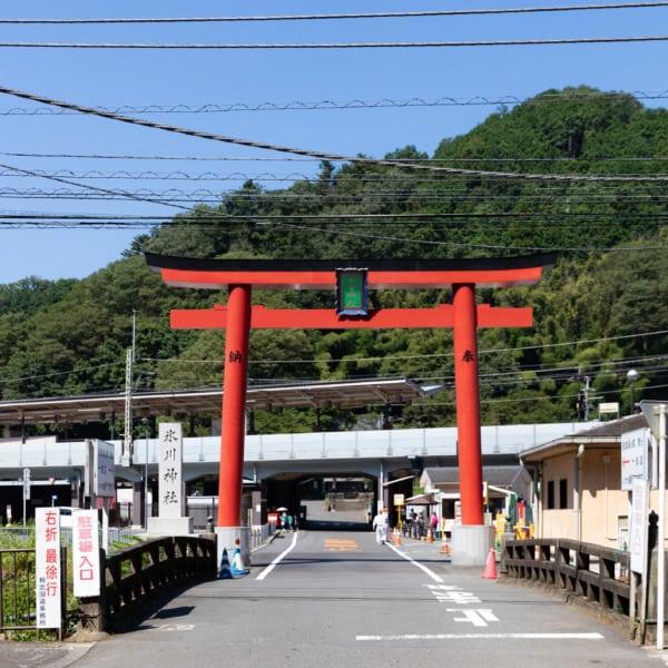 高尾山口駅近く 氷川神社の鳥居