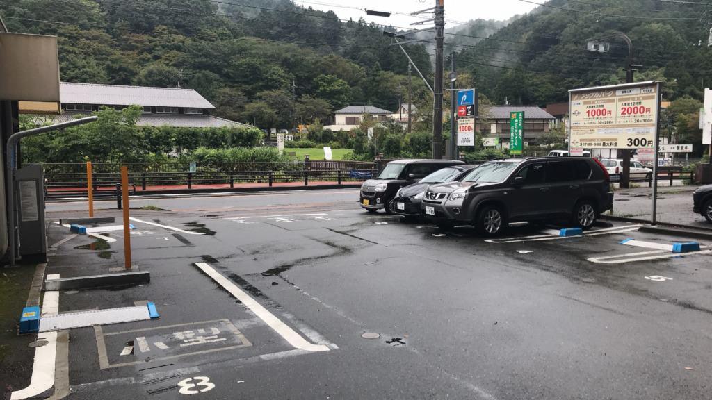 アップルパーク高尾山第1 駐車場内の風景