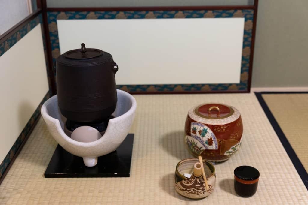 やまぶき庵のお茶道具
