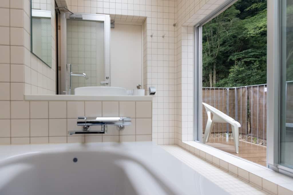 ルーフトップバスルームのバスルームからの風景